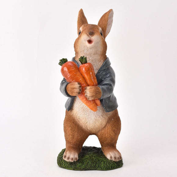 Suited Rabbit Garden Ornament