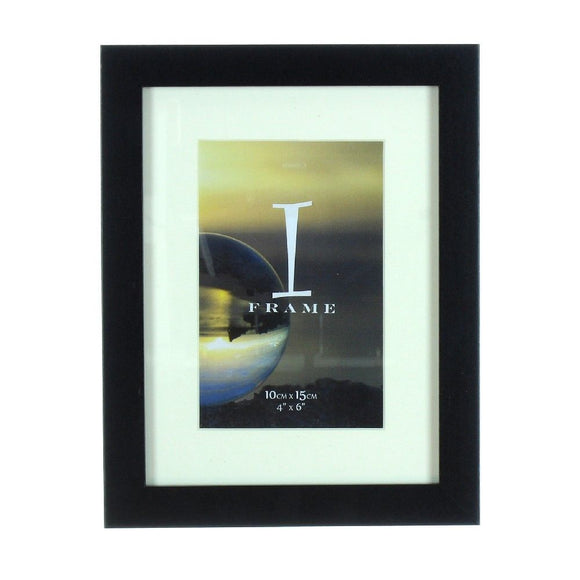 iFrame Solid Black Wood Finish Frame With Mount