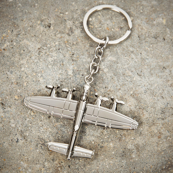 Military Heritage Silver Plated Keyring Lancaster