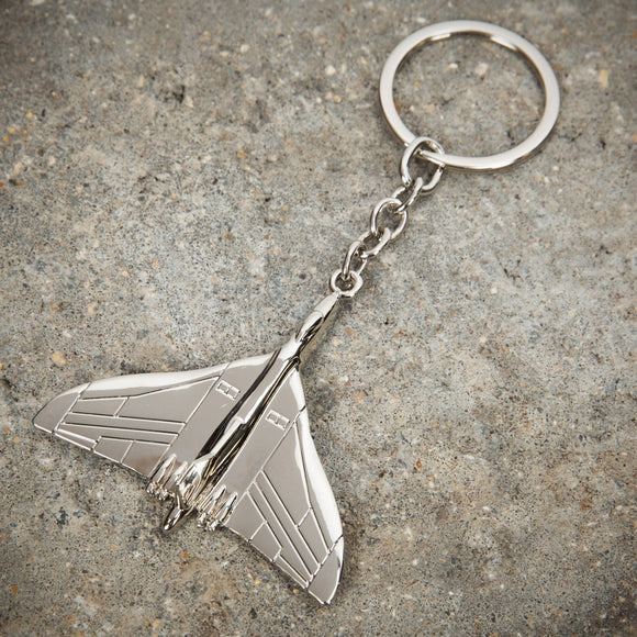 Military Heritage Silver Plated Keyring Vulcan