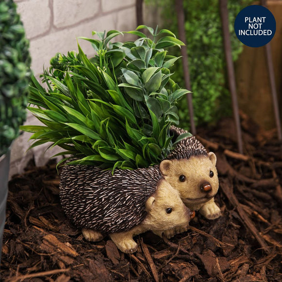 Naturecraft Collection Pair Of Hedgehogs Planter