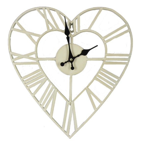Hestia Metal Heart Wall Clock