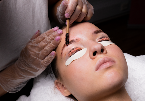 2-in-1 lash lifting and brow lamination treatment process