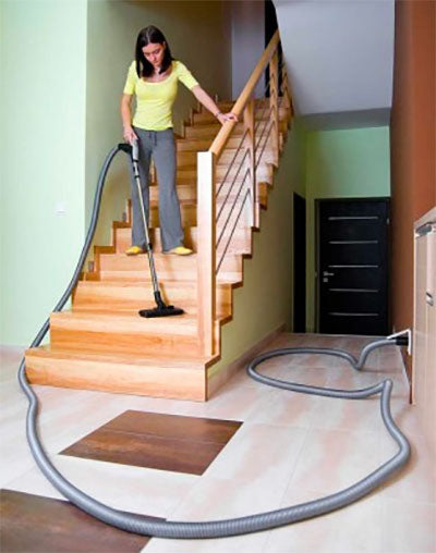 Central Vacuum Fall Cleanup