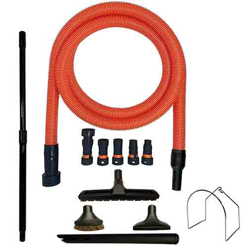 VPC Premium Wet Dry Shop Vacuum Extension Hose with Cleaning Attachments and Multi-Brand Power tool Adaptors