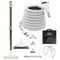 Central Vacuum Accessory Kit - Air Driven - Telescopic Wand with Air Turbine and Deluxe Tools - White