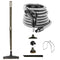 Central Vacuum Accessory Kit - Air Driven - Telescopic Wand with Deluxe Tool Set - Black