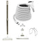 Central Vacuum Accessory Kit - Air Driven - Telescopic Wand with Deluxe Tool Set - White