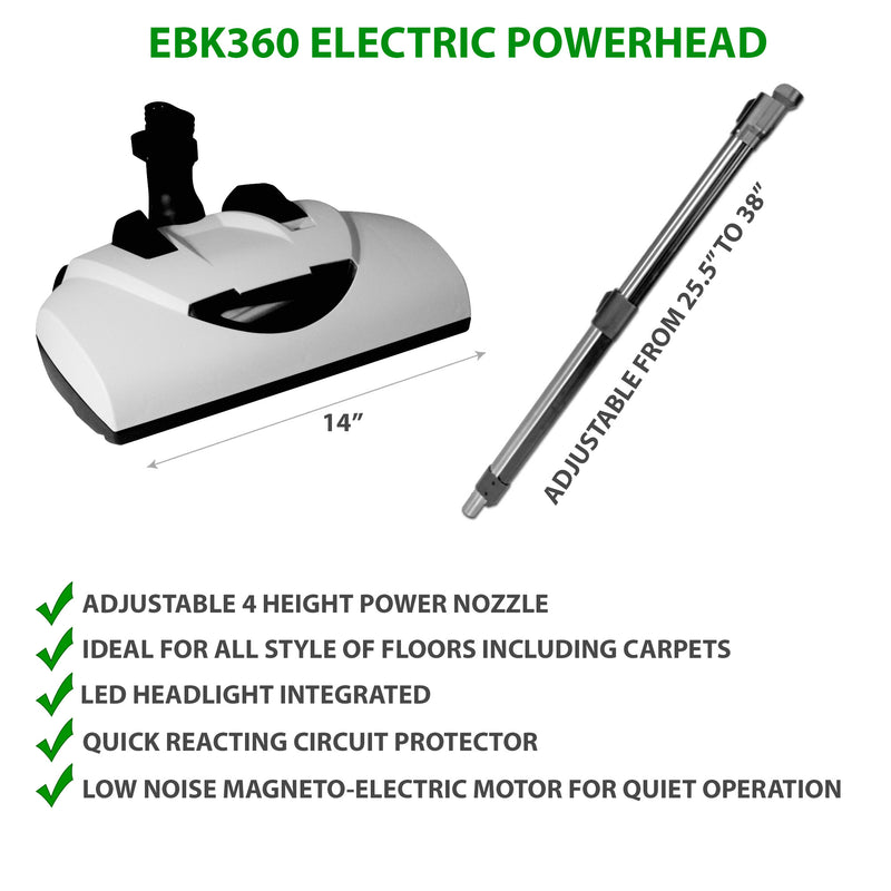 EBK360 Electric Powerhead with Adjustable Wand