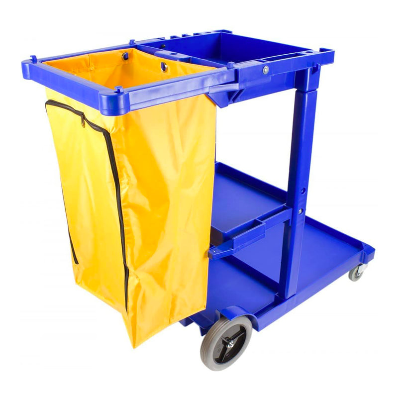Janitorial Cart Blue
