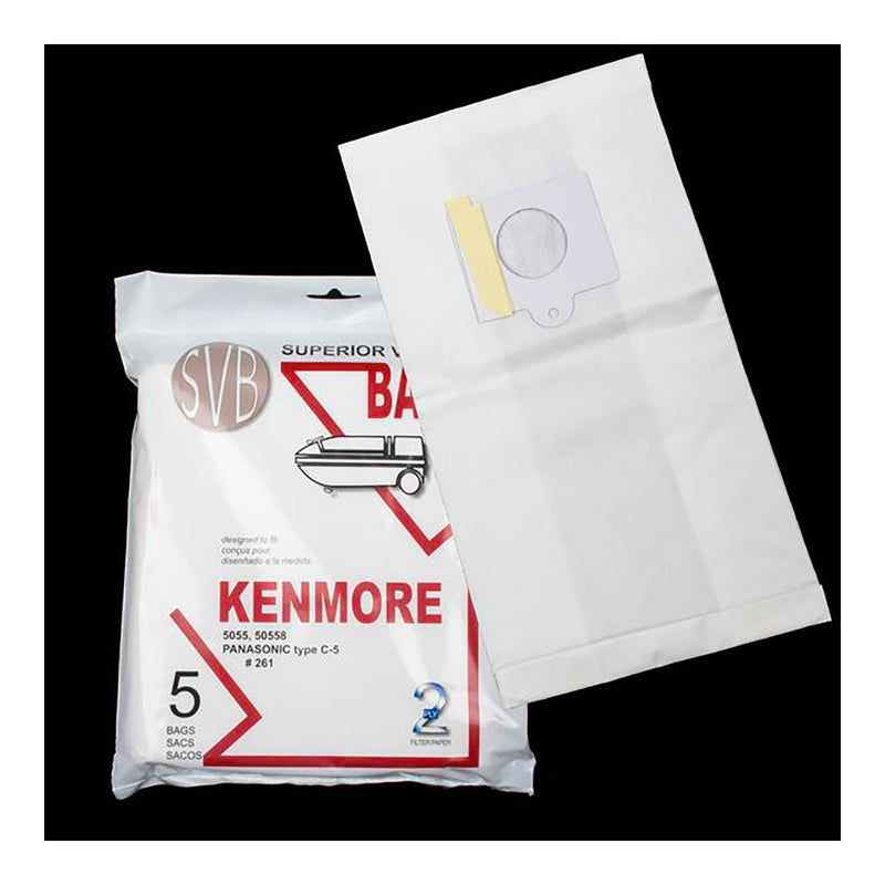 Kenmore BA261 Canister Vacuum Bags - Pack of 5