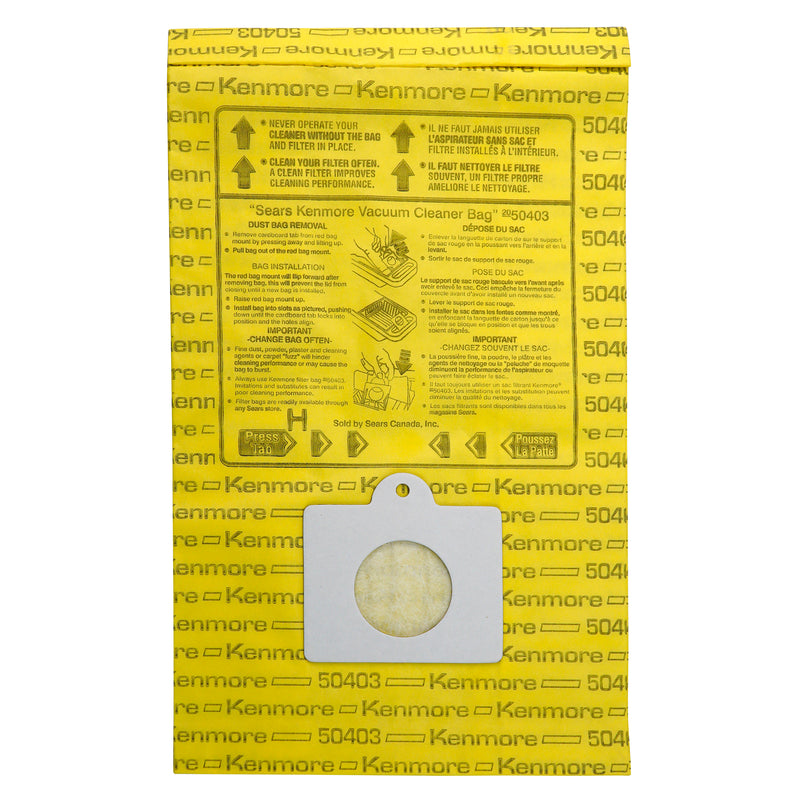 Kenmore Disposable Canister Vacuum Cleaner Bags