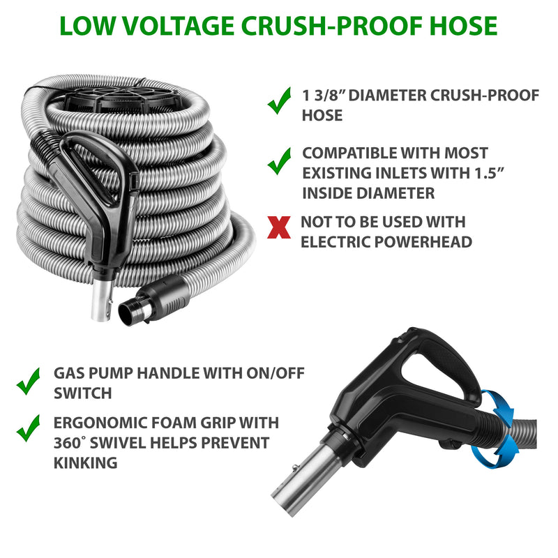 Low Voltage Air Hose with gas pump handle with on/off switch