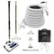 Central Vacuum Accessory Kit with PN11 Electric Powerhead and Telescopic Wand - White