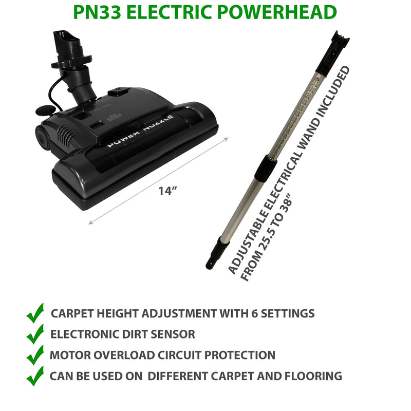 PN33 Electric Powerhead with Adjustable electrical wand