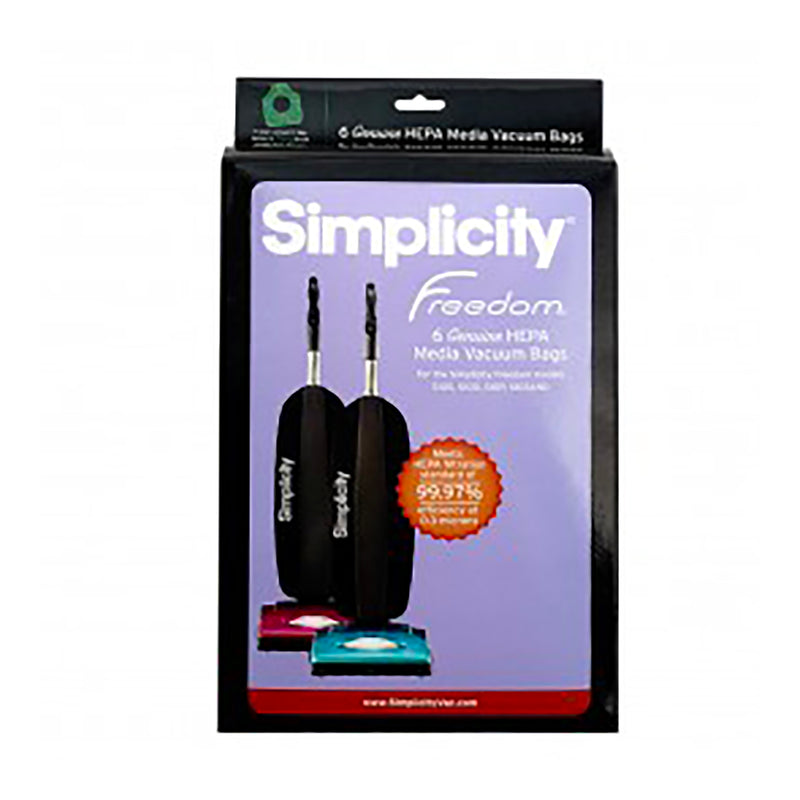 Simplicity Vacuum Bags - HEPA - For Freedom Upright Models