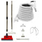 SEBO Central Vacuum Accessory Kit - Red Powerhead - Electric Hose - White
