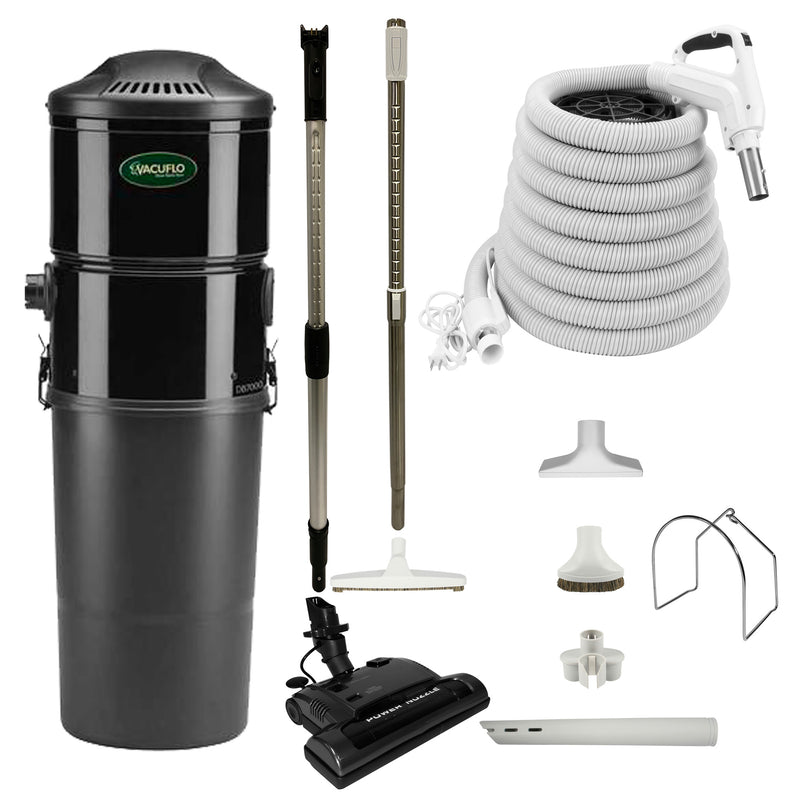 Vacuflo DB5000 Central Vacuum with Power Essentials Package - White