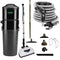 Vacuflo DB7000 Central Vacuum with Deluxe Electric Package - Black