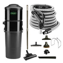 Vacuflo DB8000 Central Vacuum with Rug and Floor Package - Black