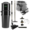 Vacuflo DB9000 Central Vacuum with Power Essentials Package - Black