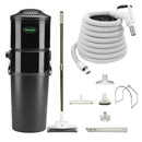 Vacuflo DB9000 Central Vacuum with Rug and Floor Package - White