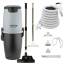 Nilfisk Supreme 250 Central Vacuum with Black SEBO ET-1 Powerhead and Supreme Package - White