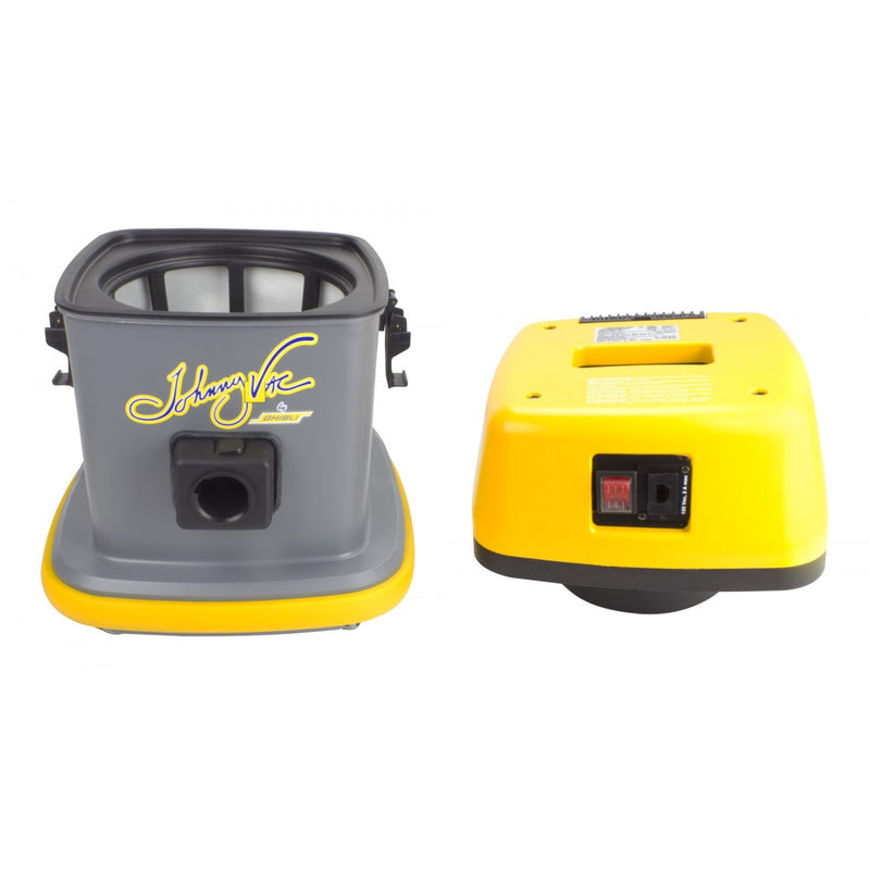 Johnny Vac Commercial Canister Vacuum - 3 Gallon Capacity - 1000W Motor - Swivel Casters