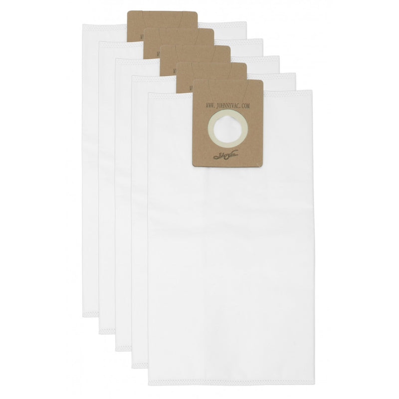 Vacuum Bags with HEPA Microfilter for Johnny Vac JV10W and Ghibli AS10 - Pack of 5 Bags