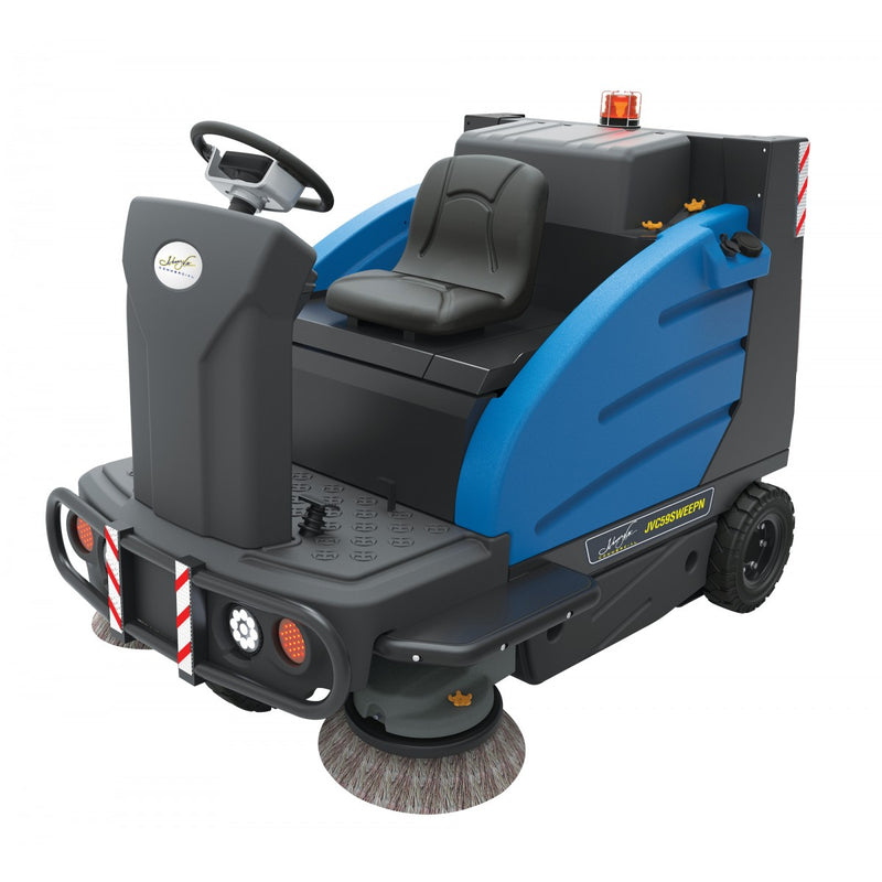 "Johnny Vac Industrial Ride-On Sweeper Machine - 59"" Cleaning Path"