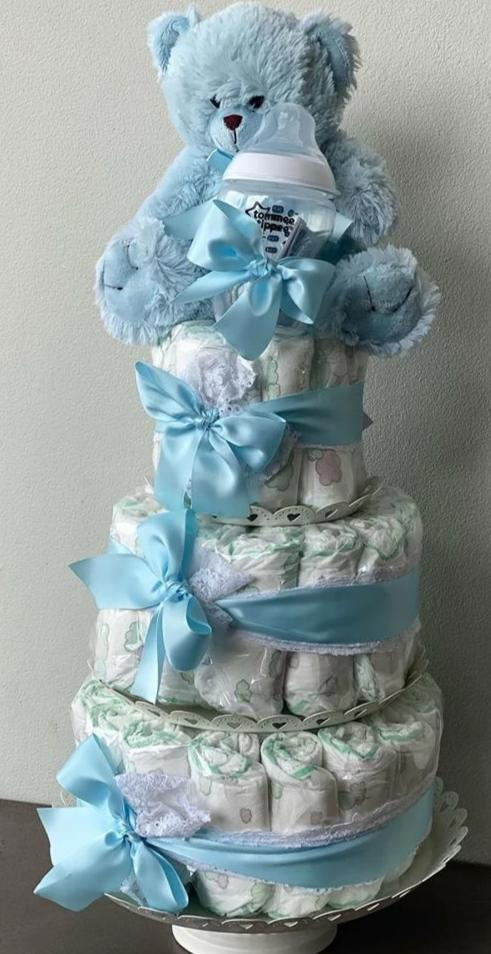 Nb4 Baby Boy Nappy Cake Flower Co Boutique