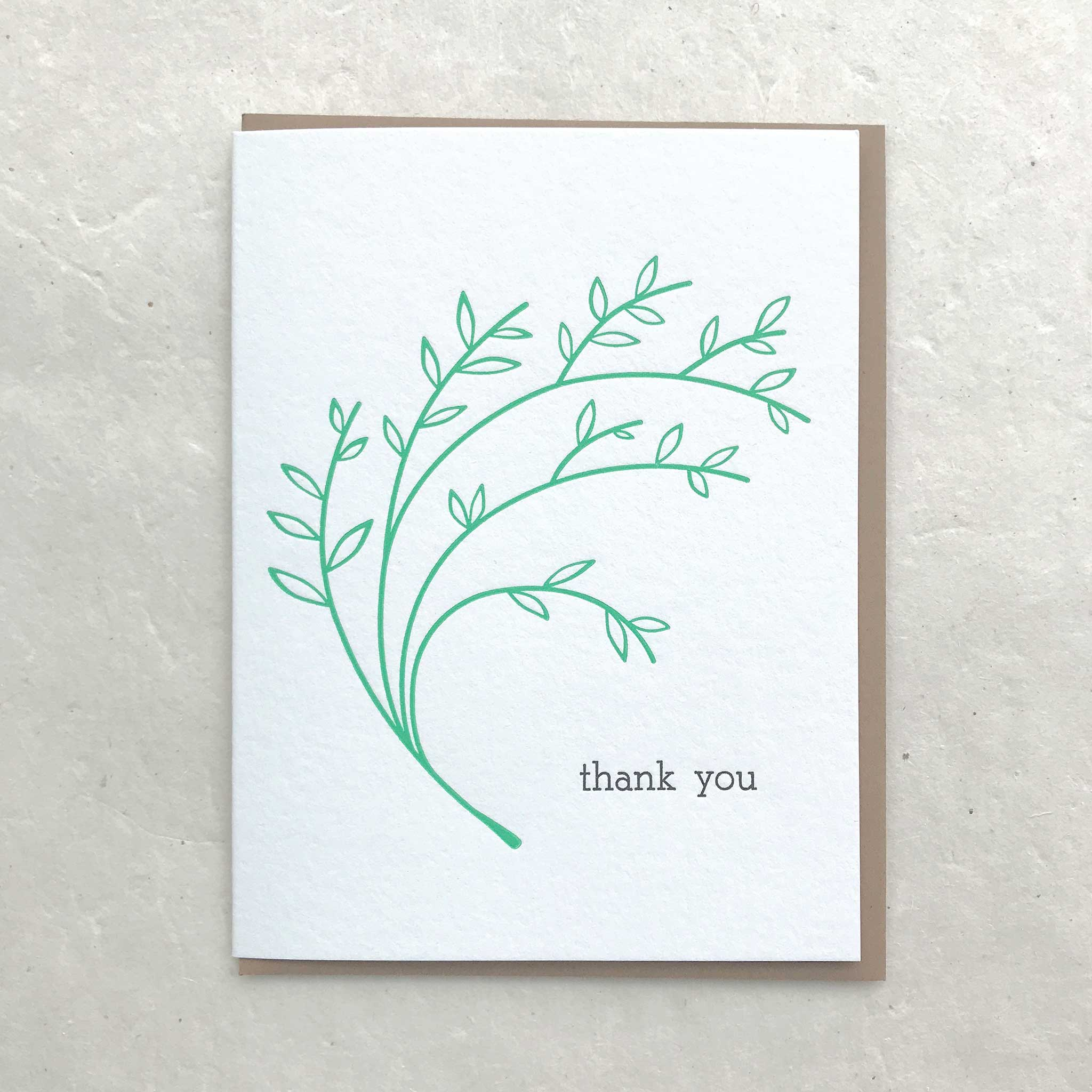 Thank You - Kelly Green Branch