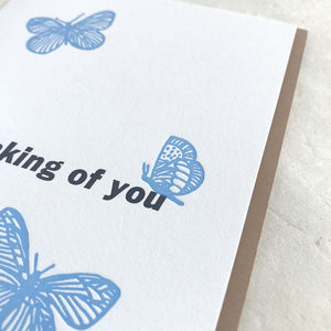 Thinking of You - Blue Butterflies