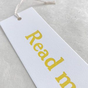 Letterpress bookmark - Read More, scroll less