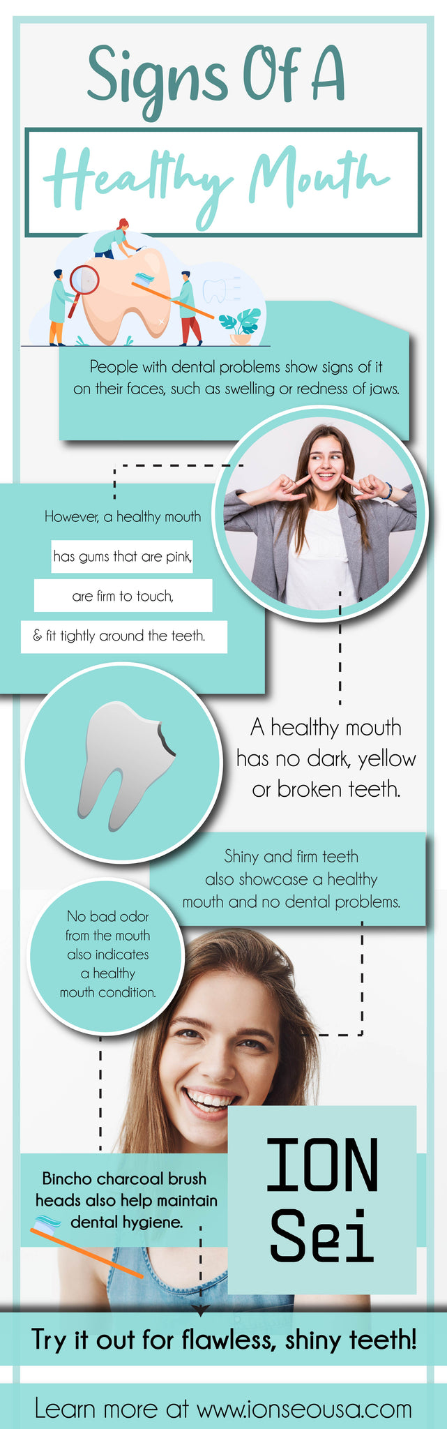 Signs of a healthy mouth
