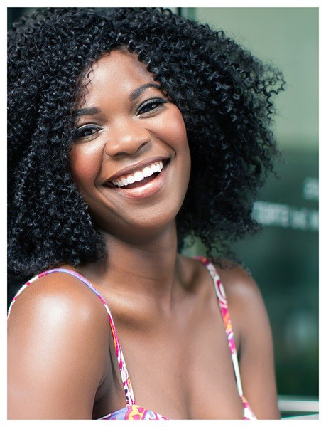 A woman with a bright smile