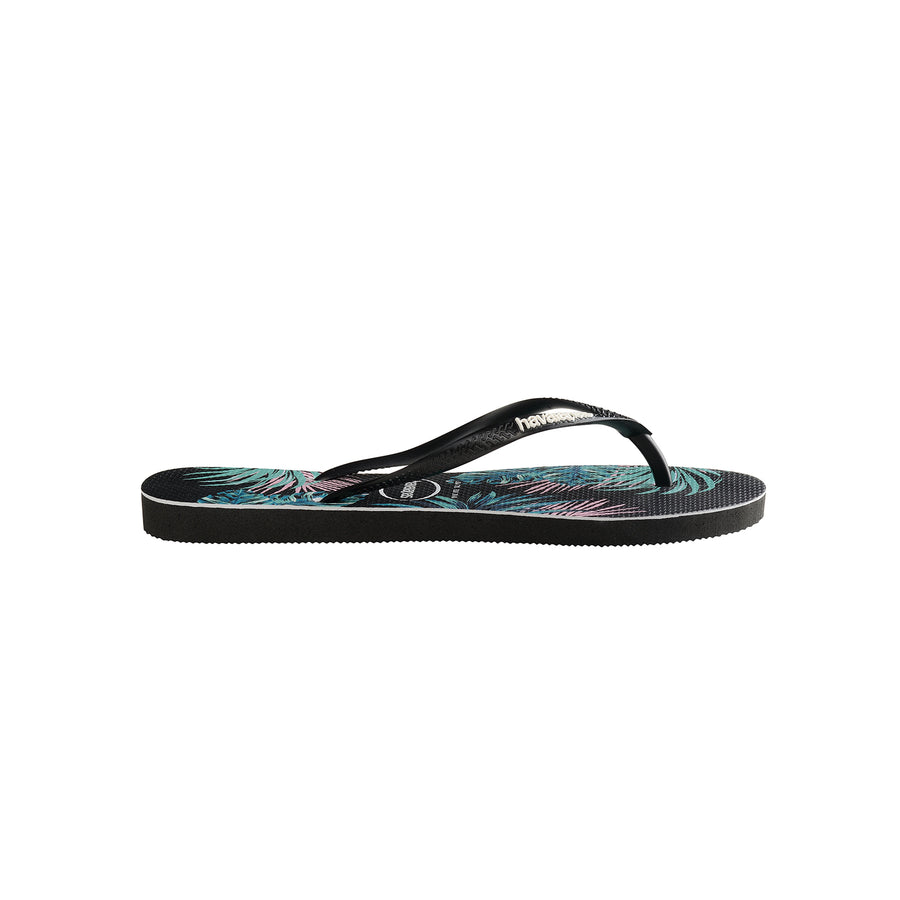 Kids Slim Tropical Floral Black/Black new