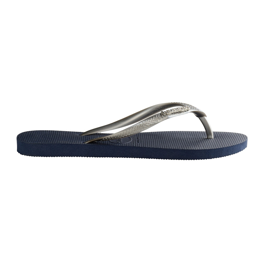 Slim Logo Metallic Navy/Silver