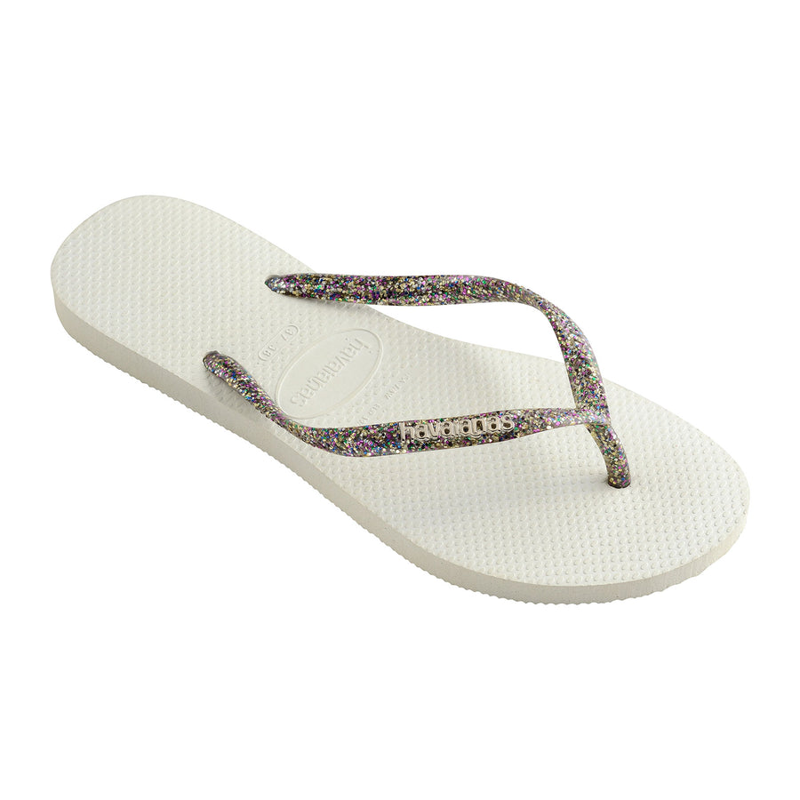 Slim Logo Metallic 3742 White/Silver