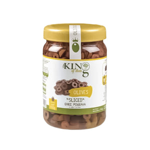 THE KING OF OLIVES Sliced Black Olives 450g