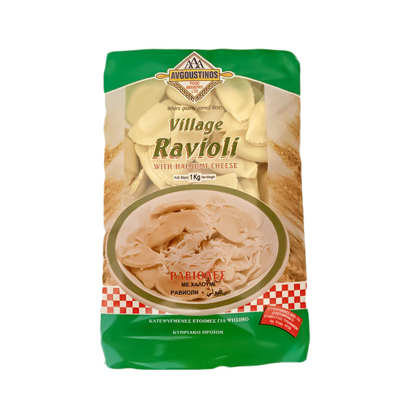 AVGOUSTINOS Traditional Cypriot Village Ravioli with Halloumi cheese 1kg (frozen)