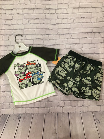 Infant Swim Rashguard & Shorts. 12-18 months. Old Navy