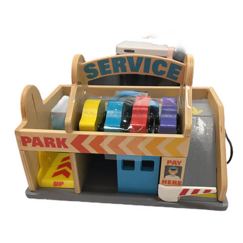 Melissa & Doug Service Station Parking Garage with 5 cars