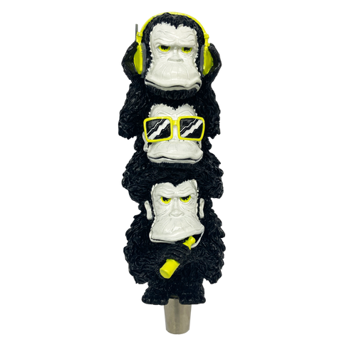 3 Weiss Monkeys Tap Handle