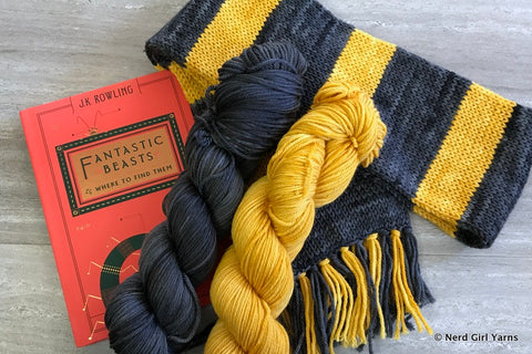 Wizarding Legacy Scarf Knit Nerd Girl Yarns