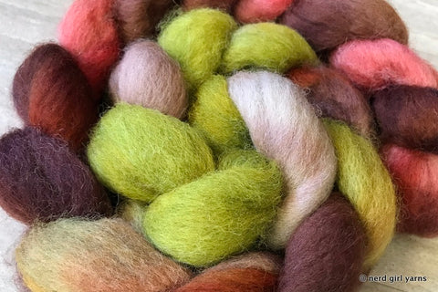 Jumanji - 100% Romney Wool Combed Top In Stock
