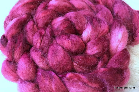 Brave at Heart - BFL/Mohair 70/30 Combed Top In Stock