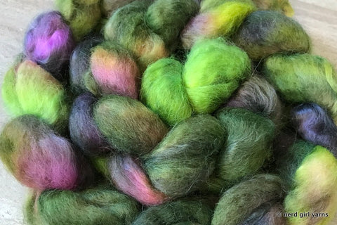 R.V. - BFL/Mohair 70/30 Combed Top In Stock