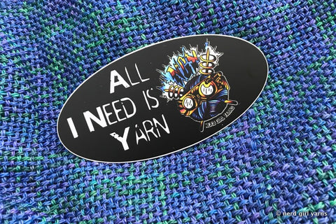 All I Need is Yarn NGY Logo Diecut Sticker