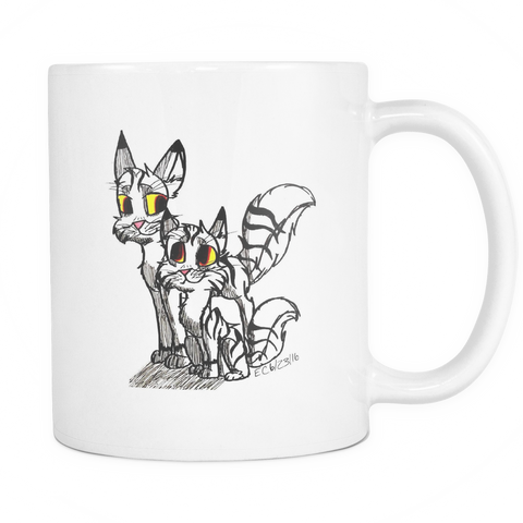 Kitty Mug - Art by Little E
